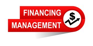 Financing management banner. Icon on isolated white background - vector illustration Royalty Free Stock Image