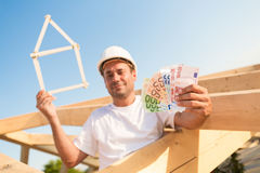 Financing  a new property in Euro Stock Images