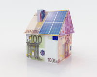 Financing for photovoltaic system Stock Image