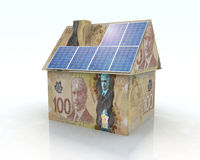 Financing for photovoltaic system Stock Images