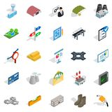 Financing of project icons set, isometric style. Financing of project icons set. Isometric set of 25 financing of project vector icons for web isolated on white Stock Images