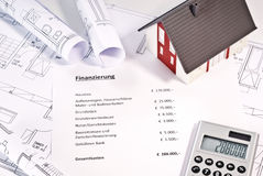 Financing of a property Stock Photography