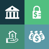 Financing vector icon Royalty Free Stock Image