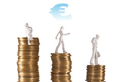 Finanical crisis of euro Stock Photography