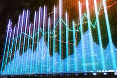 Finans, analytics och mäklarebegrepp vektor illustrationer
