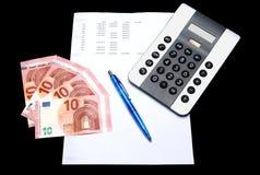 Finans - balansräkning Royaltyfri Foto
