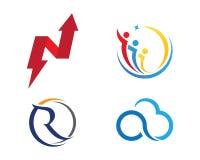 Finans Logo Template Arkivfoto