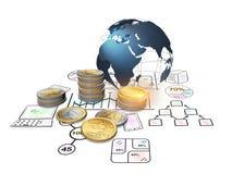 finans och investering för tolkning 3D som begrepp Royaltyfri Bild