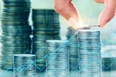 Finans- och investeringbegrepp Arkivfoto