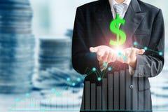 Finans- och investeringbegrepp Fotografering för Bildbyråer