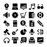 Finans- och pengarvektorsymboler 3 royaltyfri foto