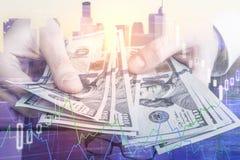 Finans och rikt begrepp arkivbilder