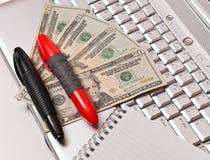 finans online Arkivfoto