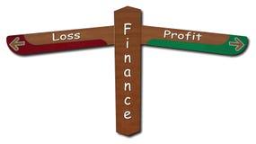Finans - vinst - förlust arkivfoto