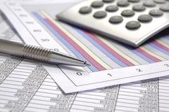 Finansaffärsberäkning arkivfoto