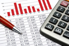 finansal statistik Arkivfoton