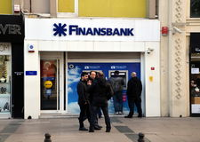 Finansbank in Istanbul Stock Images