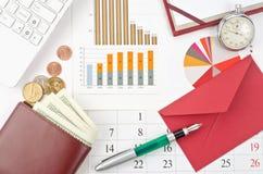 Finansbegrepp Arkivfoton