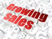 Finansbegrepp: Växande försäljningar på alfabet Royaltyfri Bild
