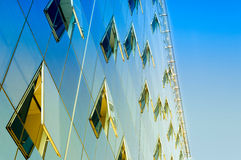 Finansbyggnadsfönster Royaltyfri Foto