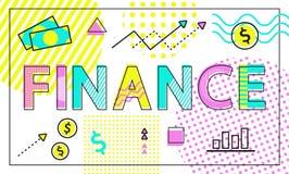 Finanse Biznesowej firmy wektoru ilustracja ilustracja wektor
