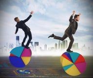Finanse i gospodarki akrobata zdjęcie stock