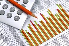 Finanse i obliczenie przy rynkiem papierów wartościowych obraz stock