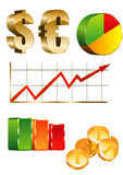 Finanse icon set. Graphics,coin Stock Photos