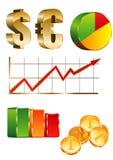 Finanse ikony set Zdjęcia Stock