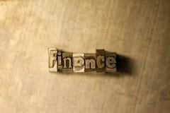 Finanse - letterpress teksta znak zdjęcie royalty free