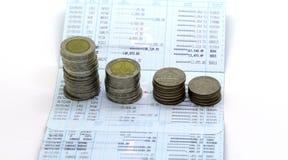Finanse w Thailand na białym tle Zdjęcia Stock