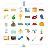 Finanse, wojsko, transport i inna sieci ikona w kreskówce, projektujemy edukacja, technologia, sport ikony w ustalonej kolekci Obrazy Stock