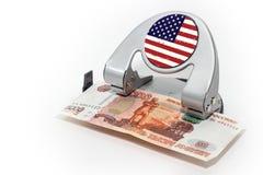 Finansial kris royaltyfri bild