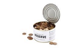 finansiell öppnad reserv Arkivfoto
