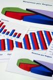 finansiell administration för 8 diagram Fotografering för Bildbyråer