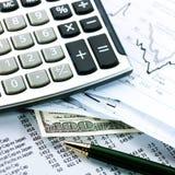 finansiell affärsidé Arkivbilder