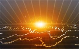 Finansiell aktiemarknadgraf fotografering för bildbyråer