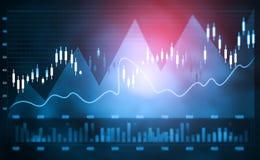 Finansiell aktiemarknadgraf arkivbilder