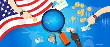 Finansiell Amerika USA Förenta staterna ekonomi royaltyfri illustrationer