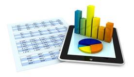 finansiell analys royaltyfri illustrationer