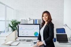 Finansiell analytiker fotografering för bildbyråer