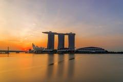 Finansiell byggnad för Singapore Cityscape Royaltyfria Bilder