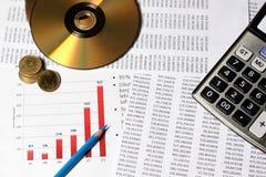 Finansiell eller redovisningsbegrepp Arkivbild
