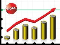 finansiell framgång för begrepp stock illustrationer