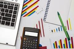 finansiell framtid för byggnadsaffärsdiagram Royaltyfria Foton