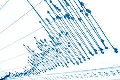 finansiell graf stock illustrationer