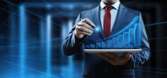 Finansiell graf Aktiemarknaddiagram Begrepp för teknologi för internet för Forexinvesteringaffär royaltyfria foton