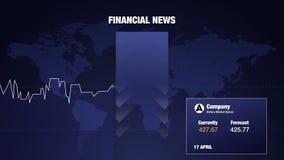 Finansiell graf för en företagsutveckling, tillväxt av affärsindexet och pris vektor illustrationer