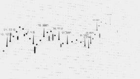Finansiell graf och data som visar på en stadig förhöjning i vinster, växande diagram och flödande räknare av nummer stock illustrationer