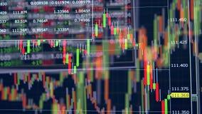 Finansiell graf på en aktiemarknad Online-handelbegrepp lager videofilmer